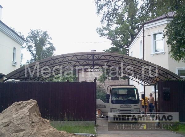 Навесы из поликарбоната для машины Новая Москва