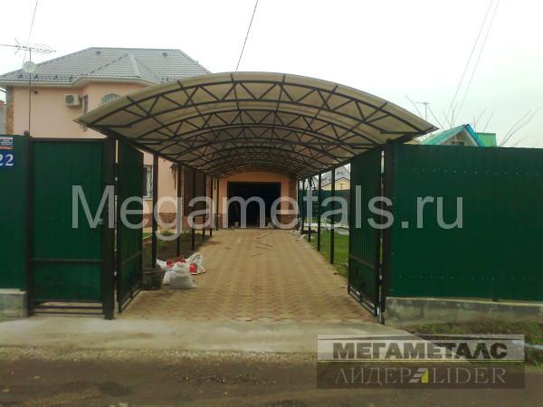 Навес для дачи из поликарбоната Дмитров