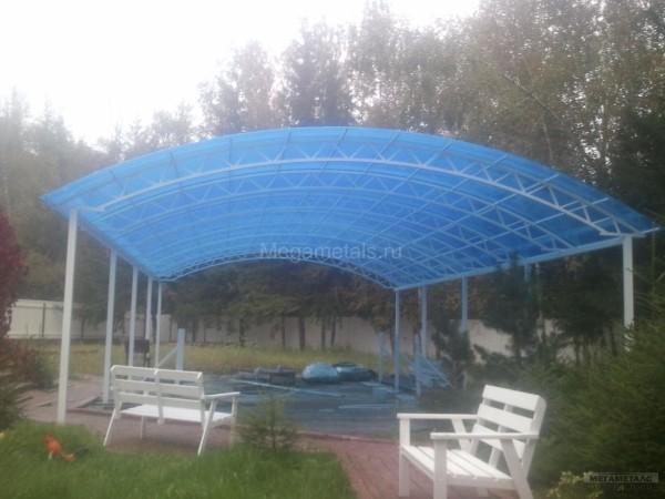 Навес для бассейна на даче Одинцово