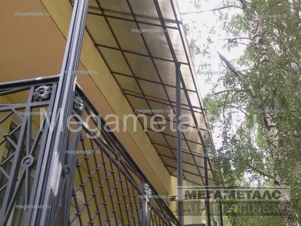 Навесы из поликарбоната для балкона