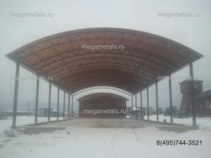 строительство навесов из поликарбоната