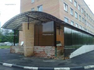 Навесы для машины из поликарбоната Климовск