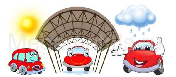 навесы для автомобилей Мегаметалс
