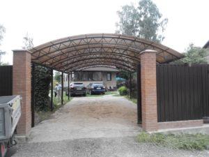 Навесы для автомобилей из поликарбоната Раменское