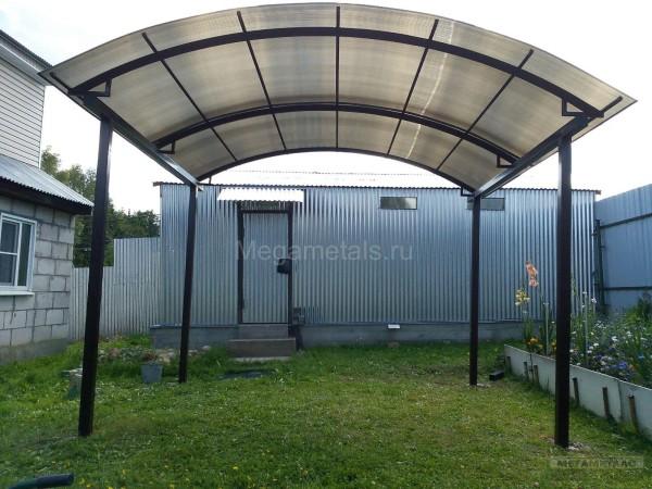 Навесы для дачи из поликарбоната размер 3,7*4,2м, Ногинск