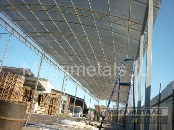 Применение навесов из поликарбоната для склада
