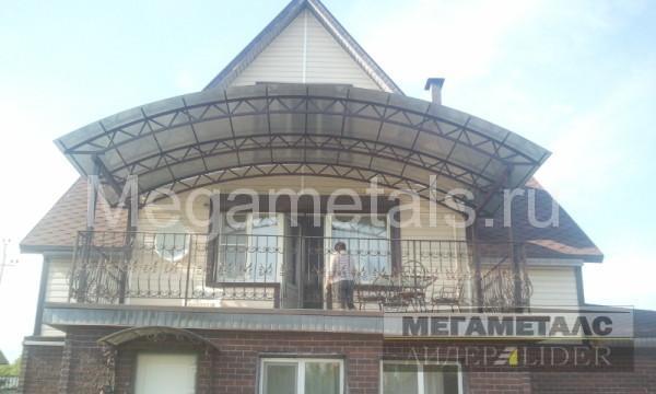 Навес из поликарбоната для балкона