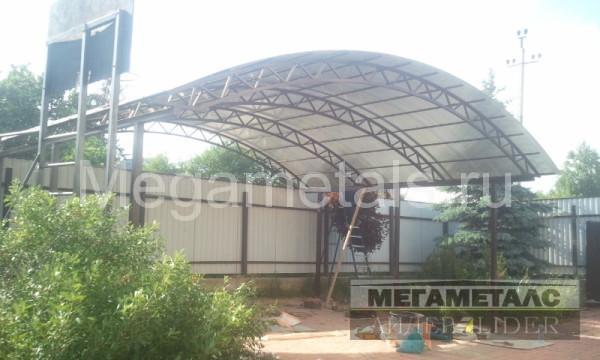 Площадка под навесом для дачи во Фрязино, размер 8*6,3м