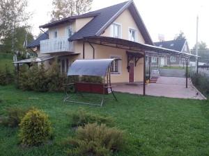 Навес из поликарбоната для дачи Малаховка