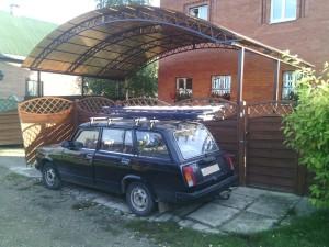 Навес из поликарбоната для авто Малино